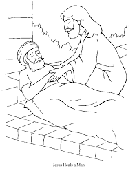 29 Jesus Heals A Blind Man Coloring Page Free Pages Of
