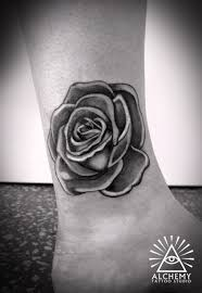 Grey Ink Rose Heart Tattoo In 2018
