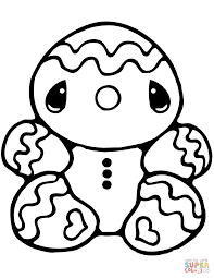 Gingerbread Man Coloring Page Tiny Free Printable Pages Fresh
