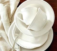 Emma Dinnerware White Pottery Barn 2 16 Piece Cereal Bowl White