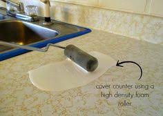 how to spray paint ugly laminate countertops