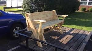 bench that turns into a picnic table outdoor patio tables ideas