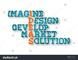 Typographic Business Ideas Crossword Poster Imagine Design Develop Market Solution