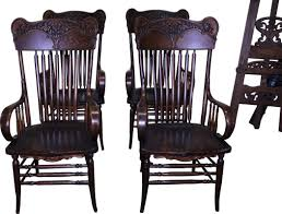 18265 Set Of 4 Victorian Carved Arm Chairs - Rare Vintage Used Antique Rocking Chairs For Sale Chairish Learn To Identify Fniture Chair Styles 1890s Amish With Cane Back And Upholstered Seat Fding The Value Of A Murphy Thriftyfun Stickley Arts Crafts Mission Style Oak Rocker Murphys Rocking Chairgrandparents Had One I Casual Ding Brown Cushion Wood Metal Rolling Caster Serta Upholstery Monaco Wing Rotmans Hay Llrocking Chairnordic Style Design Chair How Replace Leather In An Everyday Solid Oak Carver Ding Room Hall Bedroom Vintage With Arms Carryduff Belfast Gumtree