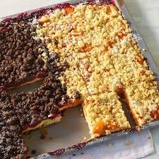 schneller quark streusel kuchen mit obst rezept essen und