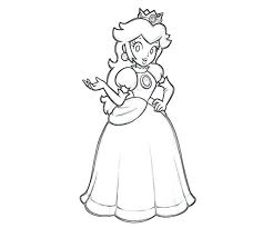 Princess Peach Coloring Pages Games Super Mario To Print Daisy Large Size
