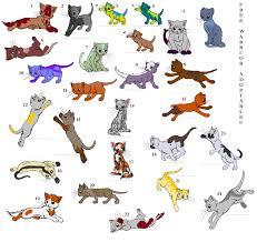 warrior cat names 26 free warrior cats closed by lexidog01 on deviantart
