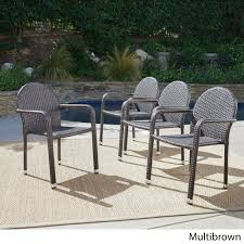 Aurora Outdoor Wicker Aluminum Stacking Dining Chair (Set Of 4) By  Christopher Knight Home Gdf Studio Dorside Outdoor Wicker Armless Stack Chairs With Alinum Frame Dover Armed Stacking With Set Of 4 Palm Harbor Stackable White All Weather Patio Chair Bay Island Noble House Multibrown Ding 2pack Plowhearth Bistro Two 30 Arm Brown 51 Bfm Seating Ms11cbbbl Gray Rattan Inoutdoor Restaurant Of Red By Crosley Fniture