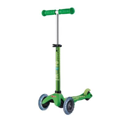 Micro Mini Deluxe Led Kick Scooter - Green