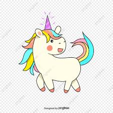 Dibujos Animados Color Unicornio Elementos De Diseño De Imagen