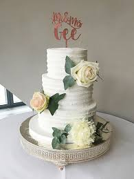 Mr And Mrs Rustic Wedding Cake