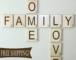 wall designs family wall scrabble letters large
