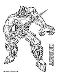 Free Dinobot Transformers Coloring Pages Disney