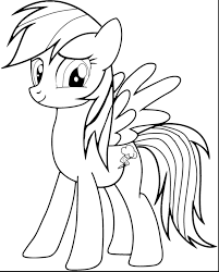 My Little Pony Rarity Coloring Pages Printable Fresh Rainbow Dash Page High