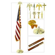 Flagpole Christmas Tree Topper by Indoor 9ft Oak Flag Pole Kit