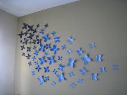 Paper Wall Art Diy Toilet Roll Home Design Ideas 3d Butterflies