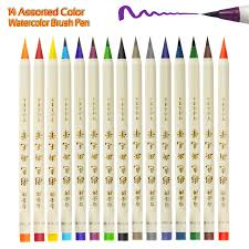 Soft Flexible Tip Watercolor Brush Pen Water Coloring Markers For Children Adult Books Manga