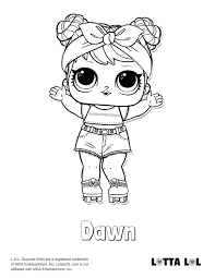 Lol Surprise Coloring Pages Dawn Doll Page Pets