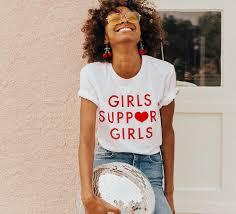 girls support girls tee white u2013 daisy natives