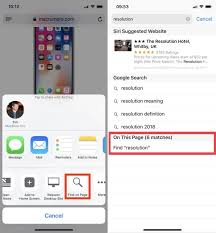 Top Five Time Saving iPhone Tips Searching Web Pages Swipe to