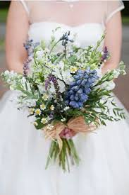 Love The Wildness Of A Wildflower Bridal Bouquet My Favorite Whites Blues Small Dasies Perfect