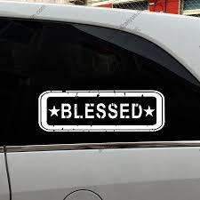 100 Funny Truck Pics Blessed Stamp God Jesus Christ Car Vinyl Decal Sticker