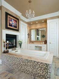 Modern Chandelier Over Bathtub by 20 Luxurious Bathrooms With Elegant Chandelier Lighting