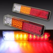 1 Pair 20 LED Car Truck Trailer Tail Lights Turn Signal Reverse ... 2x Led Rear Tail Lights Truck Trailer Camper Caravan Bus Lorry Van 0708 Dodge Ram Pickup Euro Red Clear 111 Round And W Builtin Reflector 4 Inch Led Whosale 2018 8 Car Light Warning Rear Lamps Waterproof Amazonca Trucklite 44022r Super 44 Stopturntail Kit 42 2 Pcs With License Plate Lamp Durable Lights Ucktrailer Circular Stoptail Lamp 1030v 1 Pair 12v Turn Signal 20fordf150taillight The Fast Lane