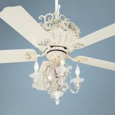 52 casa chic rubbed white ceiling fan with 4 light kit shabby
