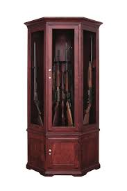 Wooden Gun Cabinet With Etched Glass by Amish Handcrafted Solid Wood Gun Cabinet From Dutchcrafters