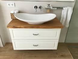 details zu waschtischplatte waschtisch badezimmer holzplatte eiche massiv geölt baumkante
