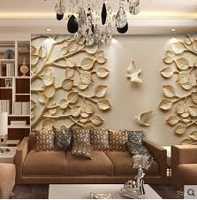 European Wallpaper Mural Large 3D Wall Paper Leaves For TV Living Room Bedroom Art Decorative
