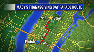 New York Halloween Parade Route Map by List Of Street Closures Due To Macy U0027s Thanksgiving Day Parade In