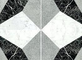 Texture Seamless Illusion Black White Marble Floor Tile Patterns Design And