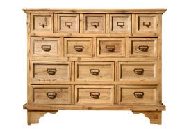Wood Apothecary Chest with 15 Drawers