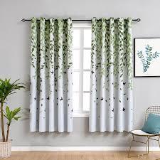 großhandel rustikale kurze vorhänge für küche pastoralen pflanze schlafzimmer dekorationen fenster vorhang wohnzimmer grüne vorhänge fair2015