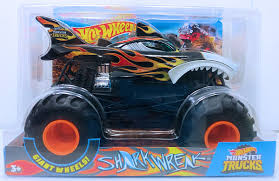 100 Shark Wreak Monster Truck HW 2018 S 124 Scale Black With