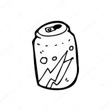 Soda can cartoon — Stock Vector