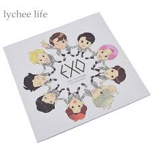 Lychee Kpop EXO Coloring Book Cute Cartoon Daily Life Paper Craft Home DecorationChina