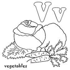 Letter V Coloring Page The For Vegetables
