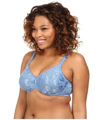 wacoal awareness seamless underwire bra 85567 in blue lyst