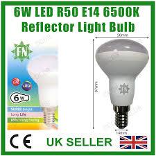 4x 6w r50 reflector spot light e14 ses daylight white 6500k