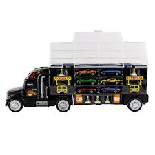100 Semi Truck Toy Details About Kids 2Sided Transport Car Carrier With 6 Cars 28 Slots Gift