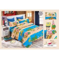 Spongebob Bedroom Set by 4 In 1 Set High Quality 800tc Spongebob Bedding Bed Sheet Super