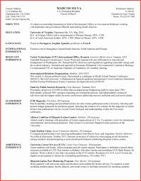 Teaching Resume Format Awesome International Cv Template Within