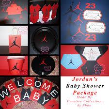 jumpman jordan inspired baby shower package michael jordan