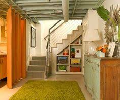 Exposed Basement Ceiling Lighting Ideas by Cozy Chic Basement Reno With Exposed Painted Joists U0026 Wood Tile