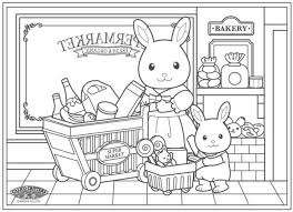 Combine Coloring With Calico Critters