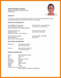 Sample Resume In The Philippines