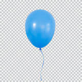 Blue helium balloon isolated on transparent background Stock graphy